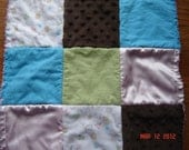 Baby Security Blanket is Super Soft and Cuddly sewn with Minky, Flannel, and Polyester Satin