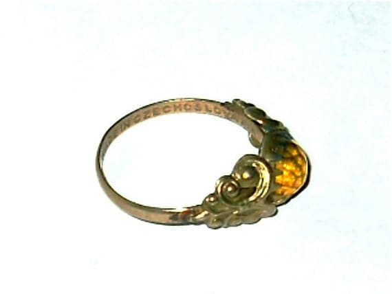 Antique Czechoslovakia Ring