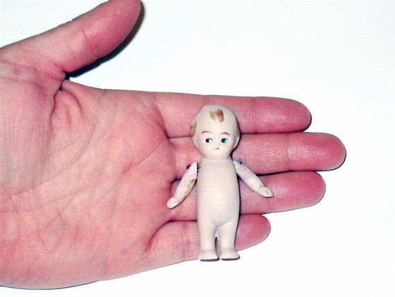 SALE Antique 1920s Miniature All BIsque googly googlie KEWPIE Jointed Arm Baby DOLL German