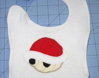 Super Mario Brothers Red Shell Baby Bib