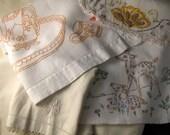 Vintage Cream Ecru Linens Six Pieces