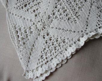 Crochet Table Runner - Pillowcase Topper - Vintage