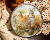 Rabbit Family Glass Hanging