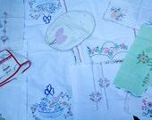 vintage embroidery grab bag