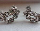 Vintage Rhinestone screw back earrings.