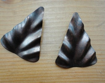 Copper vintage triangle post earrings
