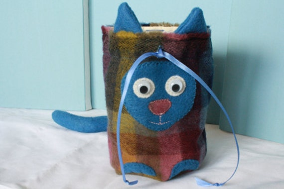 derpy kitty drawstring bag