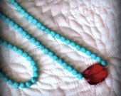 Turquoise Ruby Mala