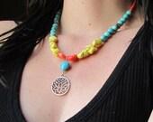 Spring lotus necklace