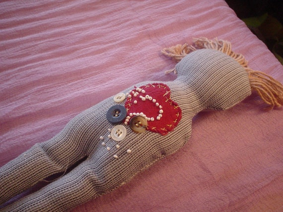 Damn It Doll Anger Management Doll  AMD Blue pin stripe SALE  Was 8.25  Now  7.00
