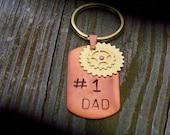 1 DAD Steam Punk Dog Tag Keyring