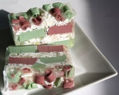 Christmas Tree huge glycerin soap bar, balsam pine cedar christmas scent, woodsy, perfect gift for her for him, hostess