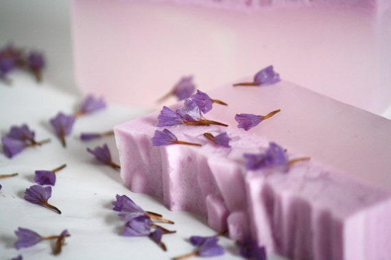 Lilac glycerin soap, perfect gift, stocking stuffer, for her hostess gift, pink, purple, delicate, floral, flower