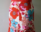 SALE Red, Pink and Blue retro Print Apron