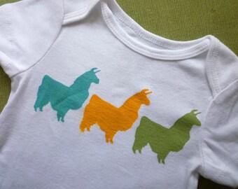 Llamas Onesie  or T Shirt - Animal Onesie or T-Shirt