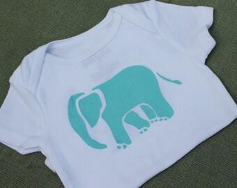 Elephant Onesie Blue