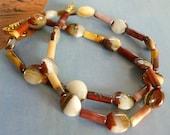 Mookaite Jasper Bead Necklace, Australian Bead Necklace, Jasper Bead Necklace, FREE US SHIPPING, Natural Stone Beads