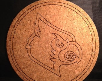 UofL Cardinal - Heat Cork Trivet - Cooking