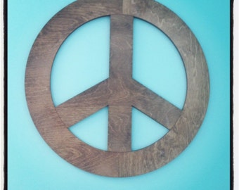 "Large 24"" Peace Sign Wall Art - Free Shipping!"
