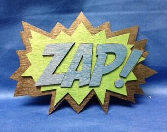 Comic Book ZAP Quote Wall Art Plaque