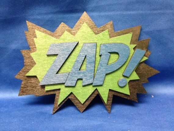 Comic Book ZAP Quote Wall Art Plaque