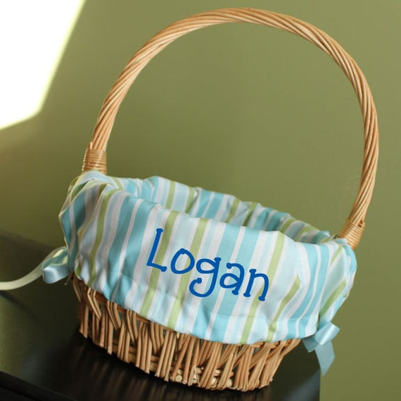 Personalized Monogrammed Easter Basket Liner By