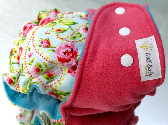 Fitted Diaper in Princess Paisley - OSFM - turned cv