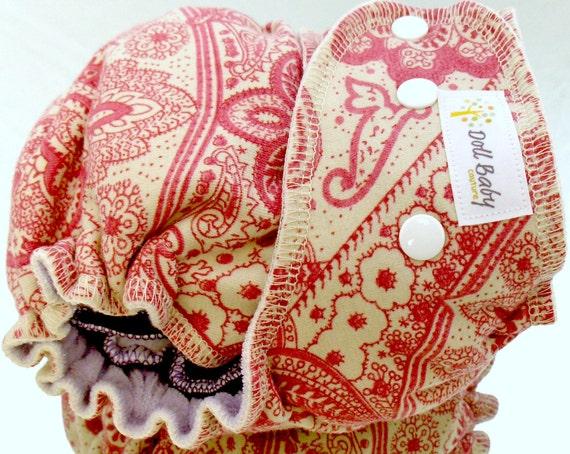 Fitted Diaper in Love Note - OSFM - serged cv