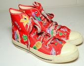 Cambus sneakers with tropical patterns, made in USA - Lady's 8.5 ( Men's 6.5 )