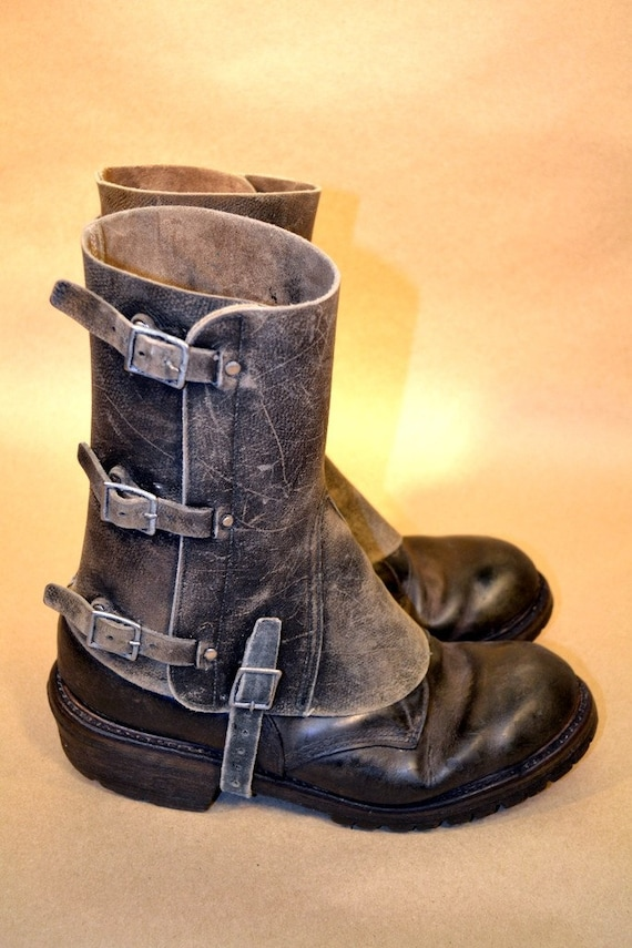 sale mens leather spats 05 boots not included free shipping