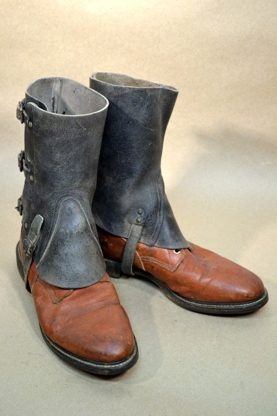 mens leather spats 06 boots not included free shipping