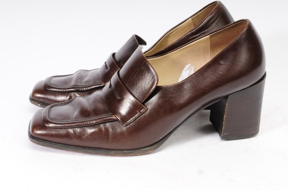 Loafer Stacked Heel Joan Helpern Size 7