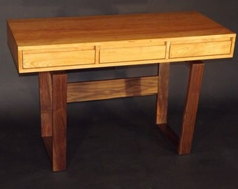 Mid century modern styled laptop/ writing desk with drawers.