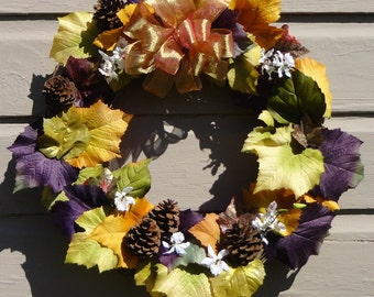 Autumn Fall Grapevine Wreath
