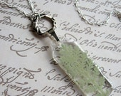 Dusty Miller - Real Foliage Garden Necklace