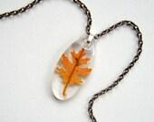 Nara - Real Autumn Oak Leaf Necklace