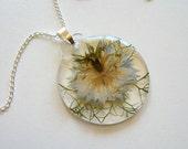 Love in a Mist - Real Flower Garden Necklace