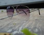 Vintage 70s/80s Purple Aviator Sunglasses