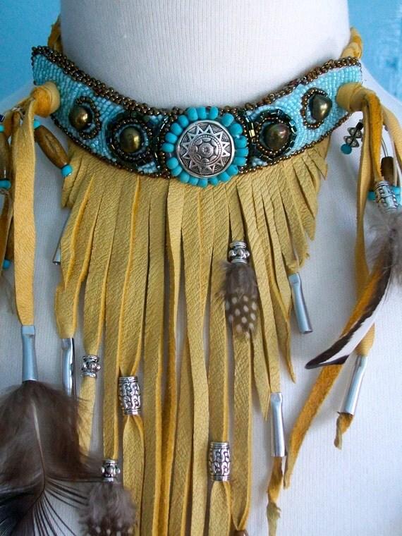 Cowgirls' Delight - Buckskin necklace