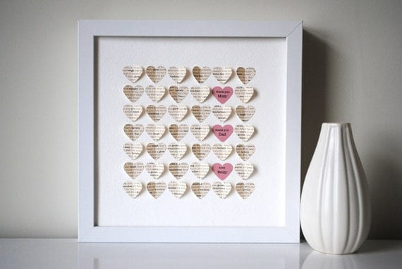 Parents 39 Thank You Gift Personalized 3d Hearts Made