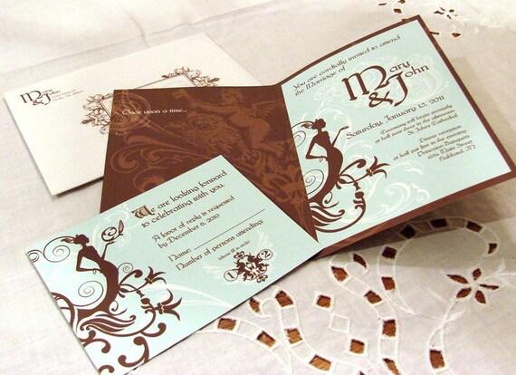 DIGITAL FILE  - Fairy Tale Invite, RSVP, A7 & A2 Envelopes
