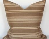 Throw Pillow Cover - Southwest Stripe - 16x16 - Beige Pillow - Decorative Pillow