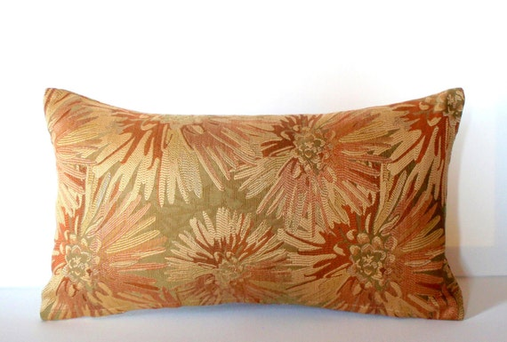 Lumbar Pillow 12x21 Rust Pillow Decorative Pillow