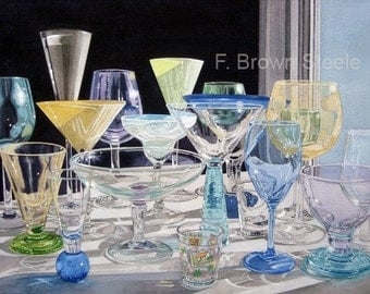 DRINKING VESSELS - watercolor reproduction
