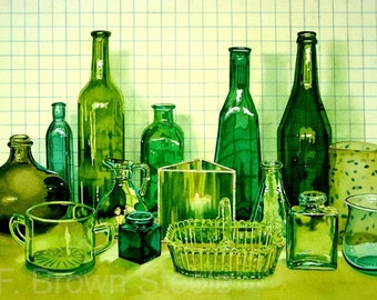 LEMON LIME - watercolor reproduction