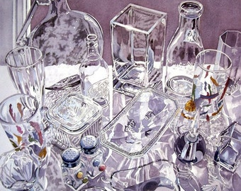 ALL TOO CLEAR - watercolor reproduction