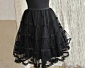 Petticoat Asinina short,black bridal tule, lace, burlesque, steampunk, cabaresque, Somnia Romantica by Marjolein Turin