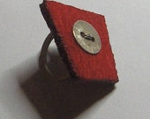 Rubber ring with RED FELT to order by UGLYGOLD