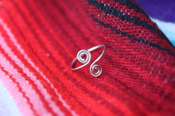 Silver Spiral Toe Ring Native American Inspired Christmas Stocking Stuffer