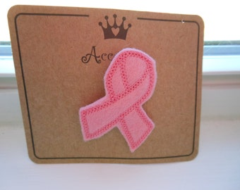 Support Breast Cancer Awareness Pink Ribbon Pin